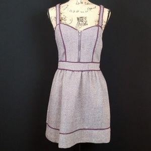 Kimchi Blue pocket dress zipper front purple tweed